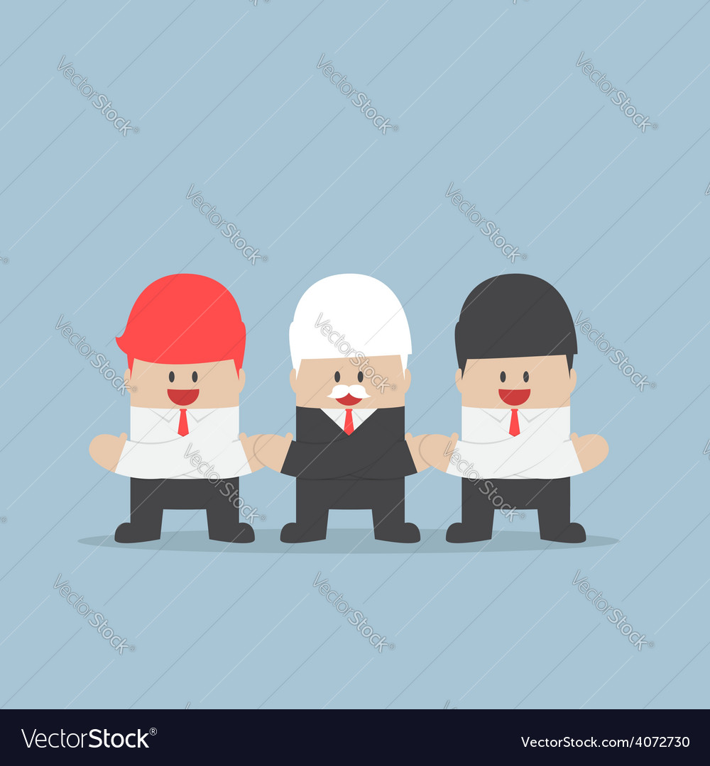 Businessmen holding hands of each other unity and vector | Price: 1 Credit (USD $1)