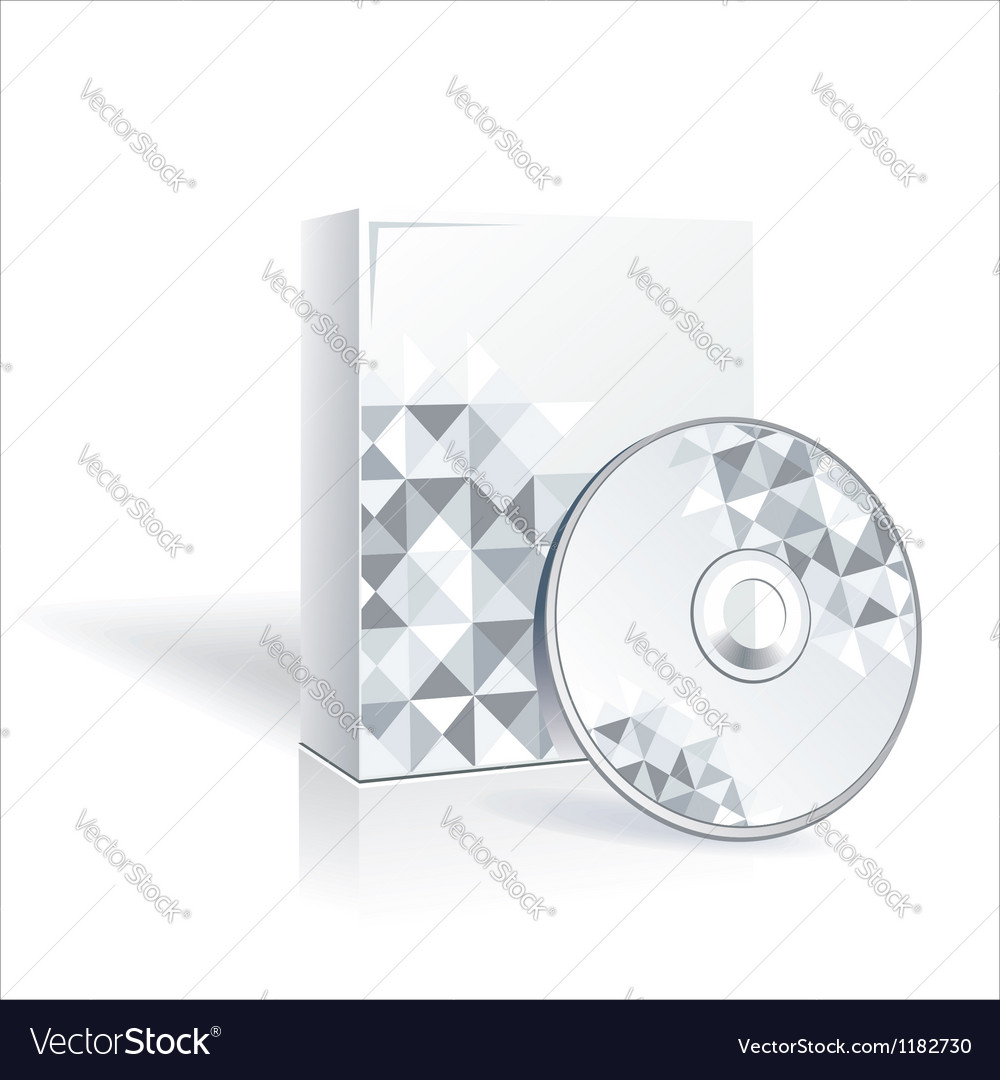 Cd and cd cover vector | Price: 1 Credit (USD $1)