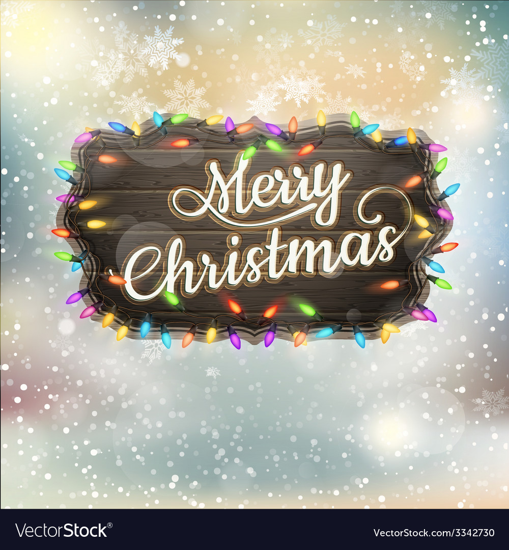 Christmas calligraphy - vintage signboard eps 10 vector | Price: 3 Credit (USD $3)