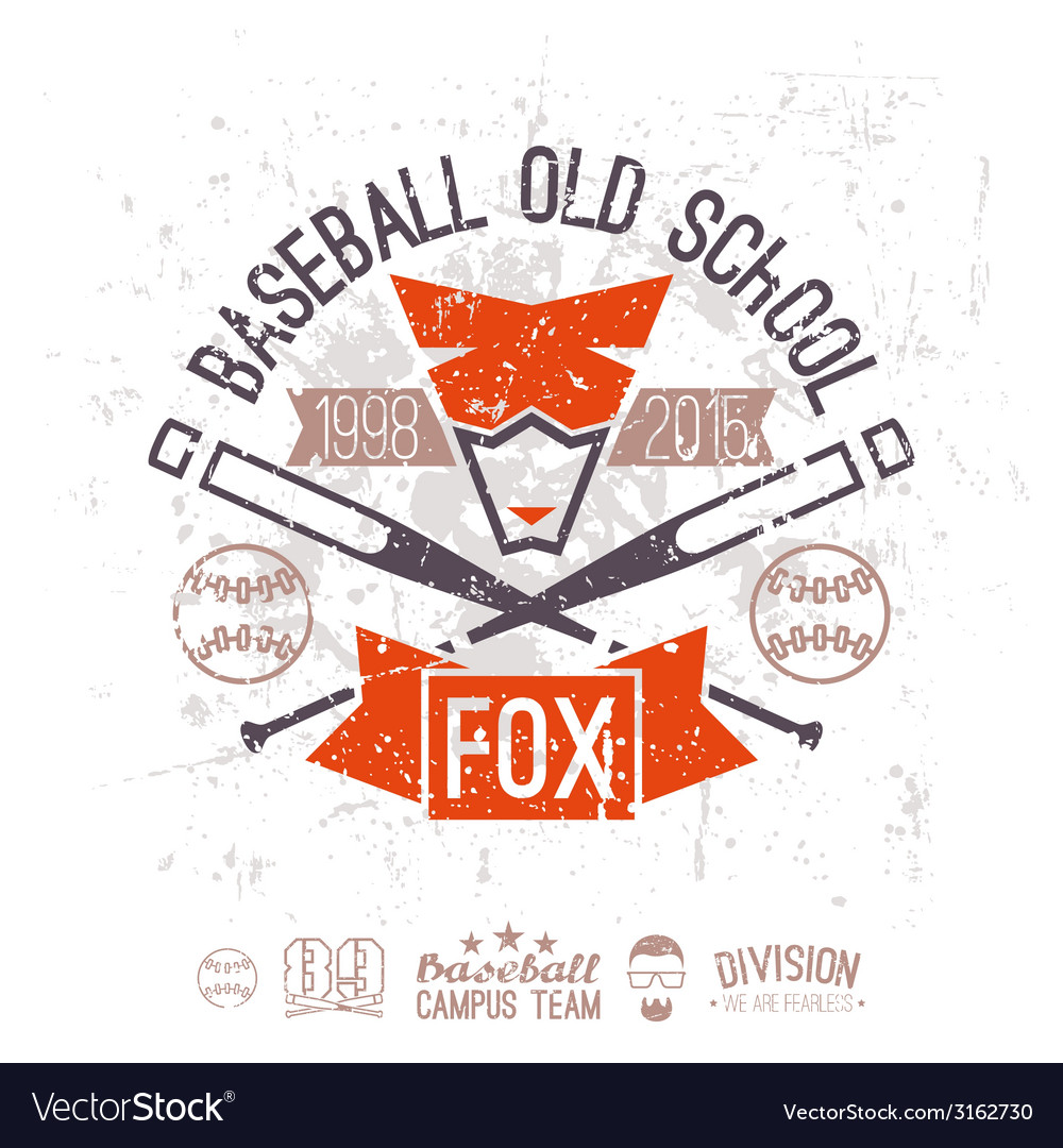 Emblem baseball campus team vector | Price: 1 Credit (USD $1)