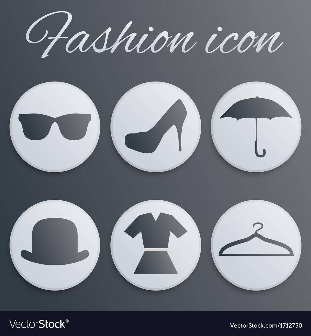 Fashion realistic button set vector | Price: 1 Credit (USD $1)