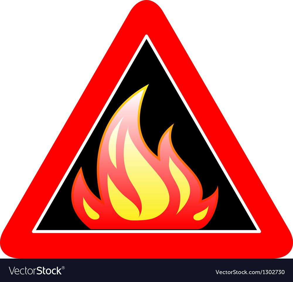 Fire sign vector | Price: 1 Credit (USD $1)