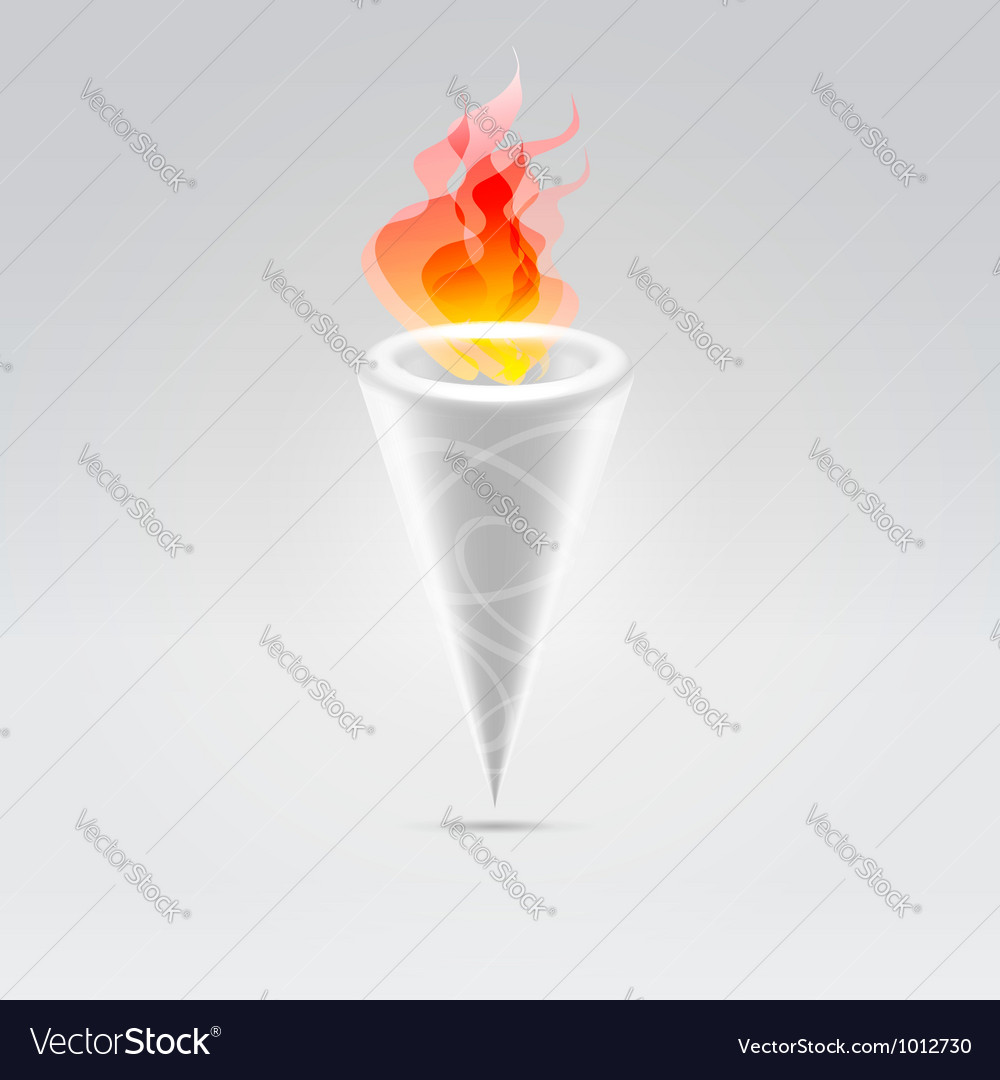Fire torch vector | Price: 1 Credit (USD $1)