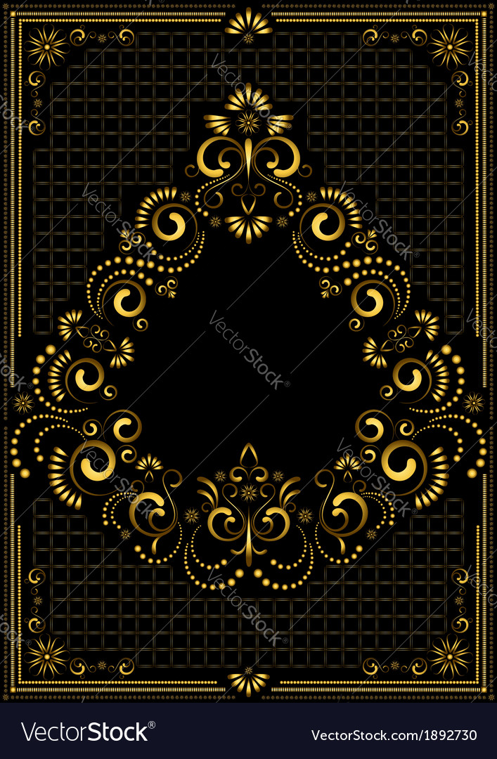 Frame in east style vector   Price: 1 Credit (USD $1)