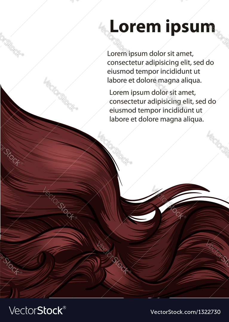 Hair style and hair care design template vector   Price: 1 Credit (USD $1)