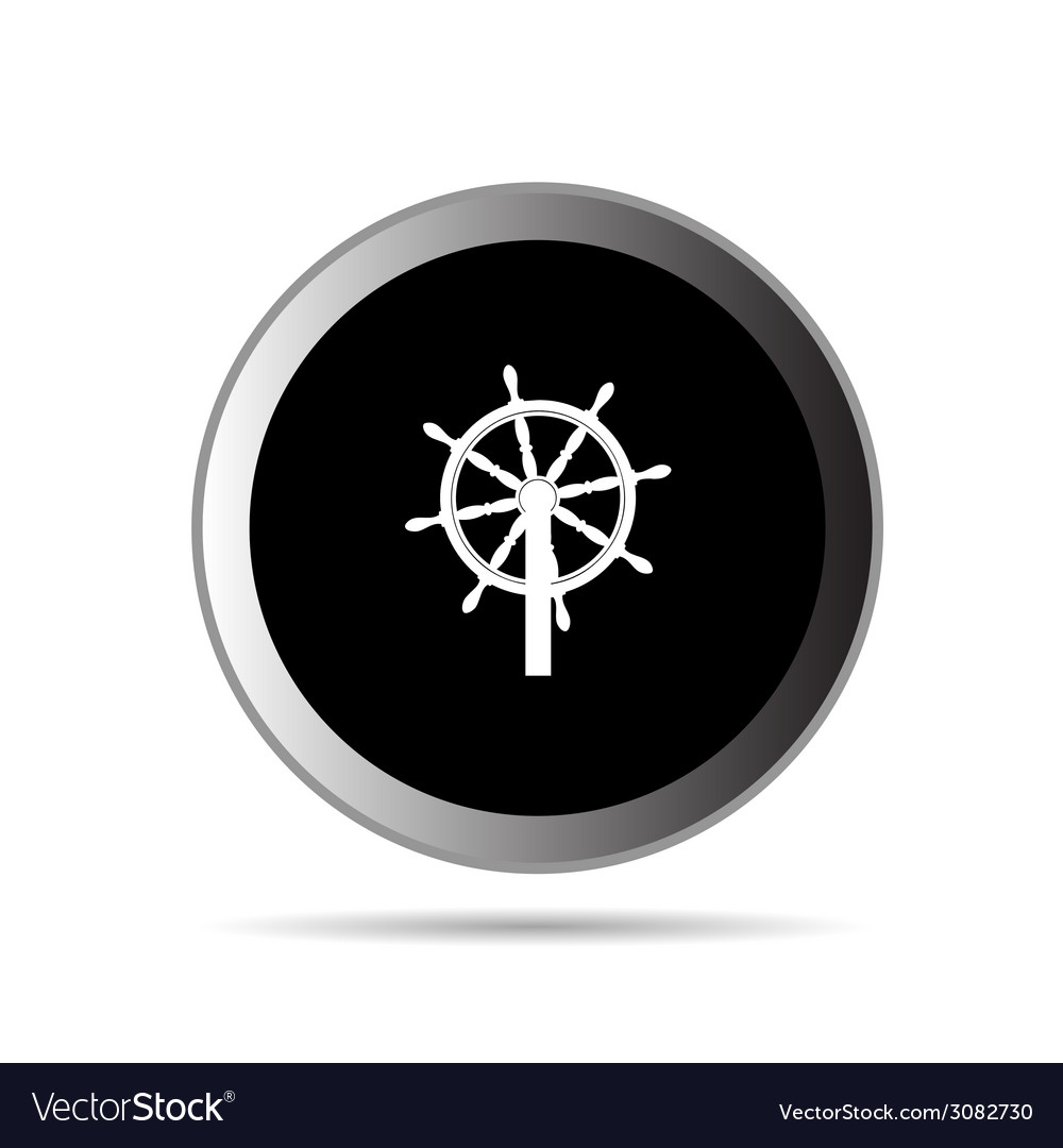 Rudder button vector | Price: 1 Credit (USD $1)
