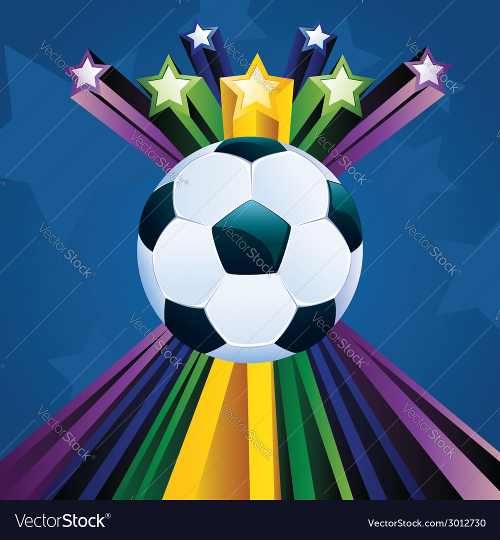 Soccer ball with stars6 vector | Price: 1 Credit (USD $1)