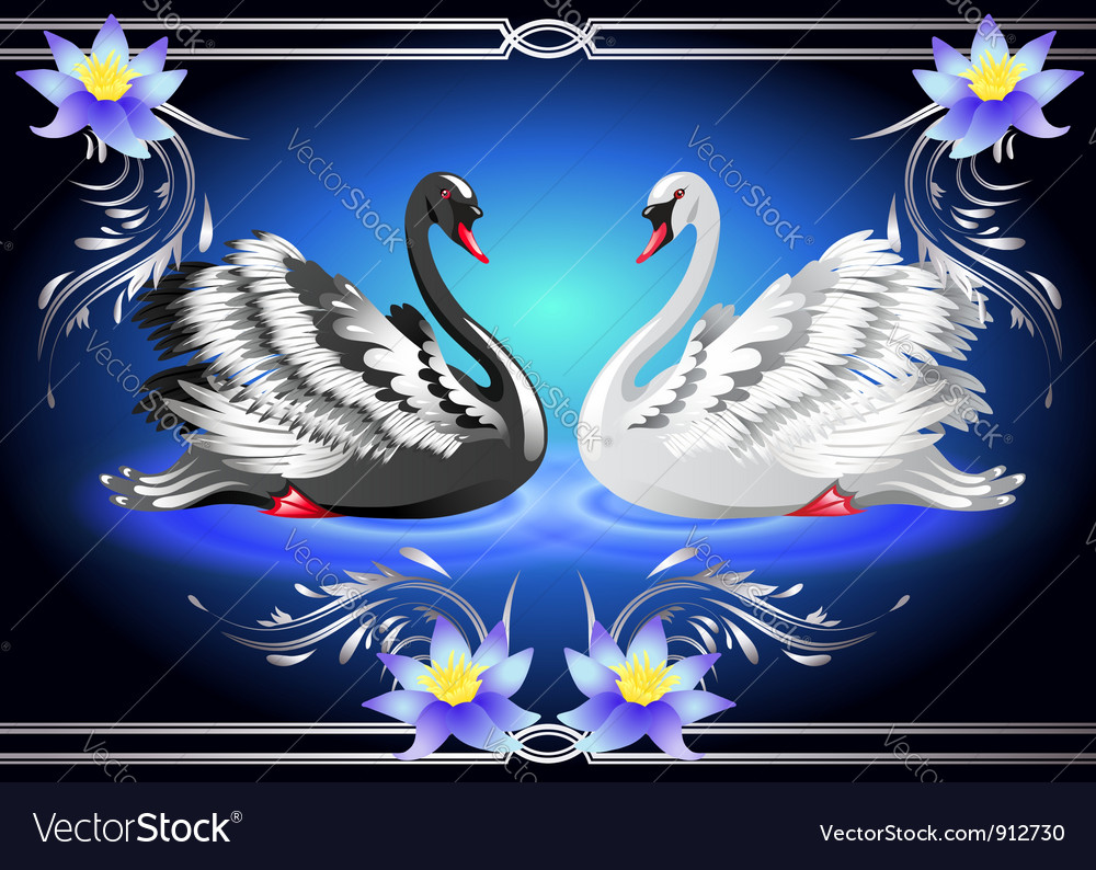 Swan lake vector | Price: 3 Credit (USD $3)