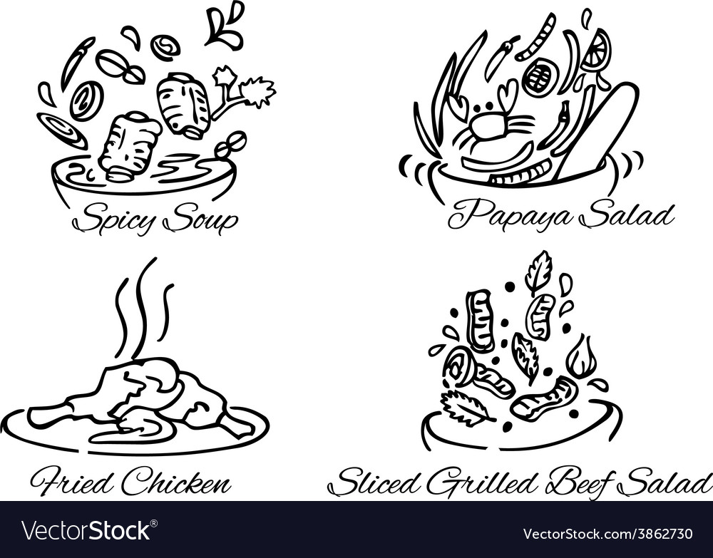 Thai foods380x400 vector | Price: 1 Credit (USD $1)
