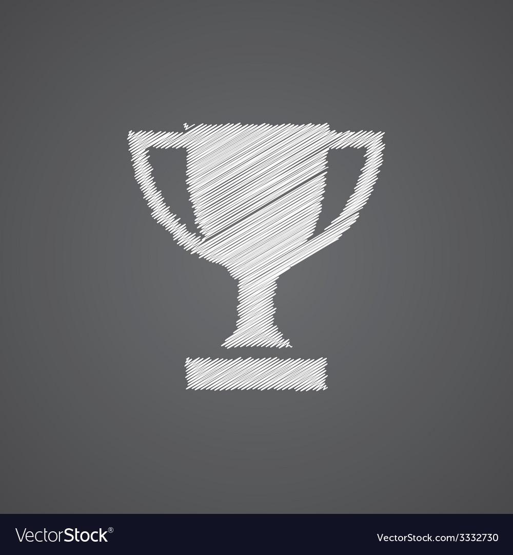 Winner cup sketch logo doodle icon vector | Price: 1 Credit (USD $1)