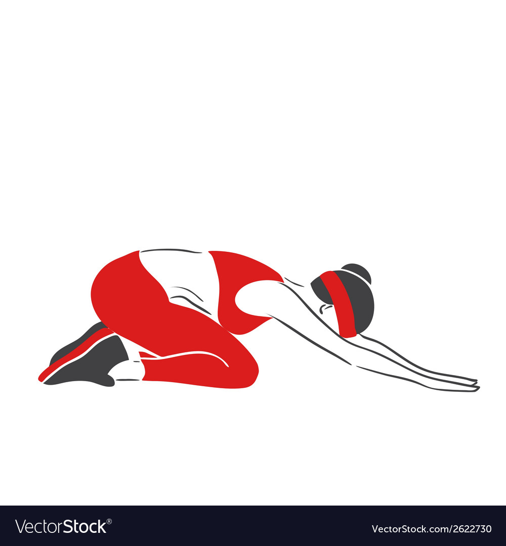 Woman practises fitness - symbolical emblem vector | Price: 1 Credit (USD $1)