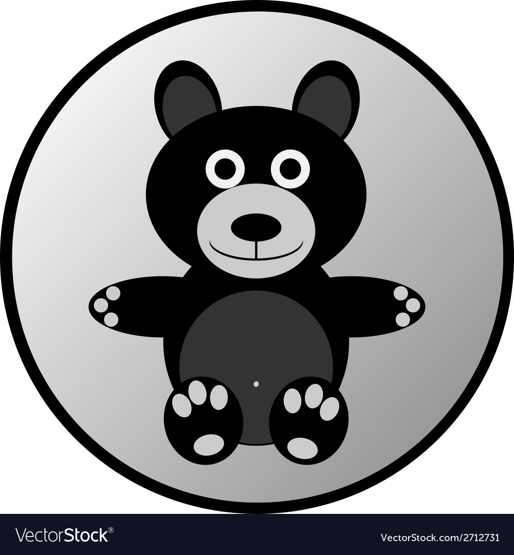Bear button vector | Price: 1 Credit (USD $1)