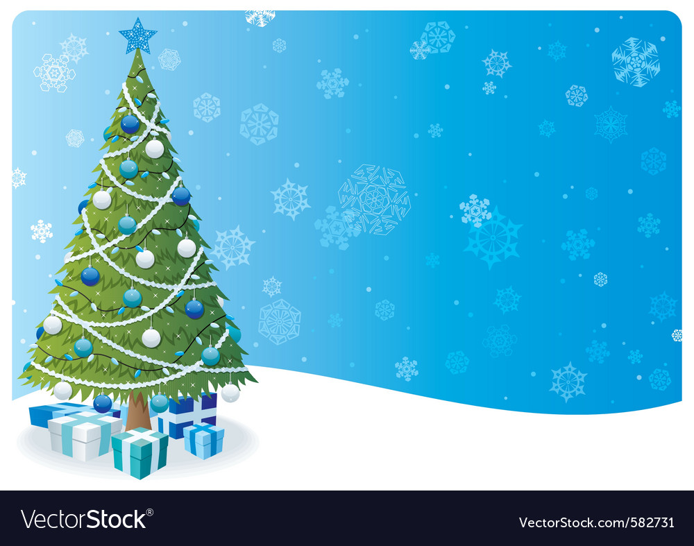 Christmas tree background 2 vector | Price: 1 Credit (USD $1)