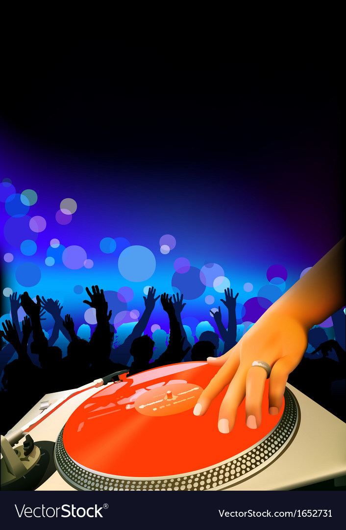 Dj and audience vector | Price: 1 Credit (USD $1)