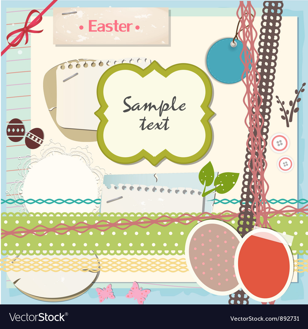 Easter scrapbook set vector | Price: 1 Credit (USD $1)