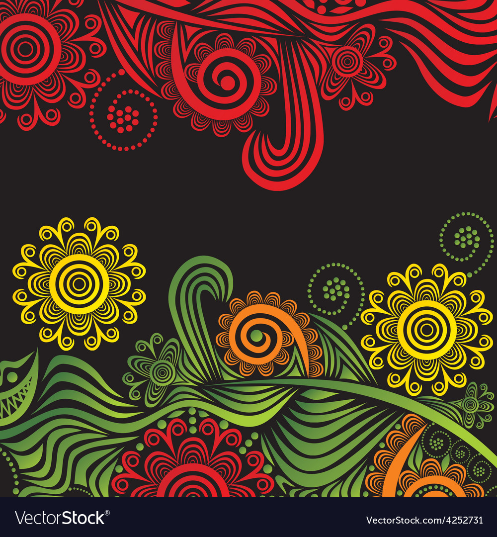 Floral nature pattern card vector | Price: 1 Credit (USD $1)