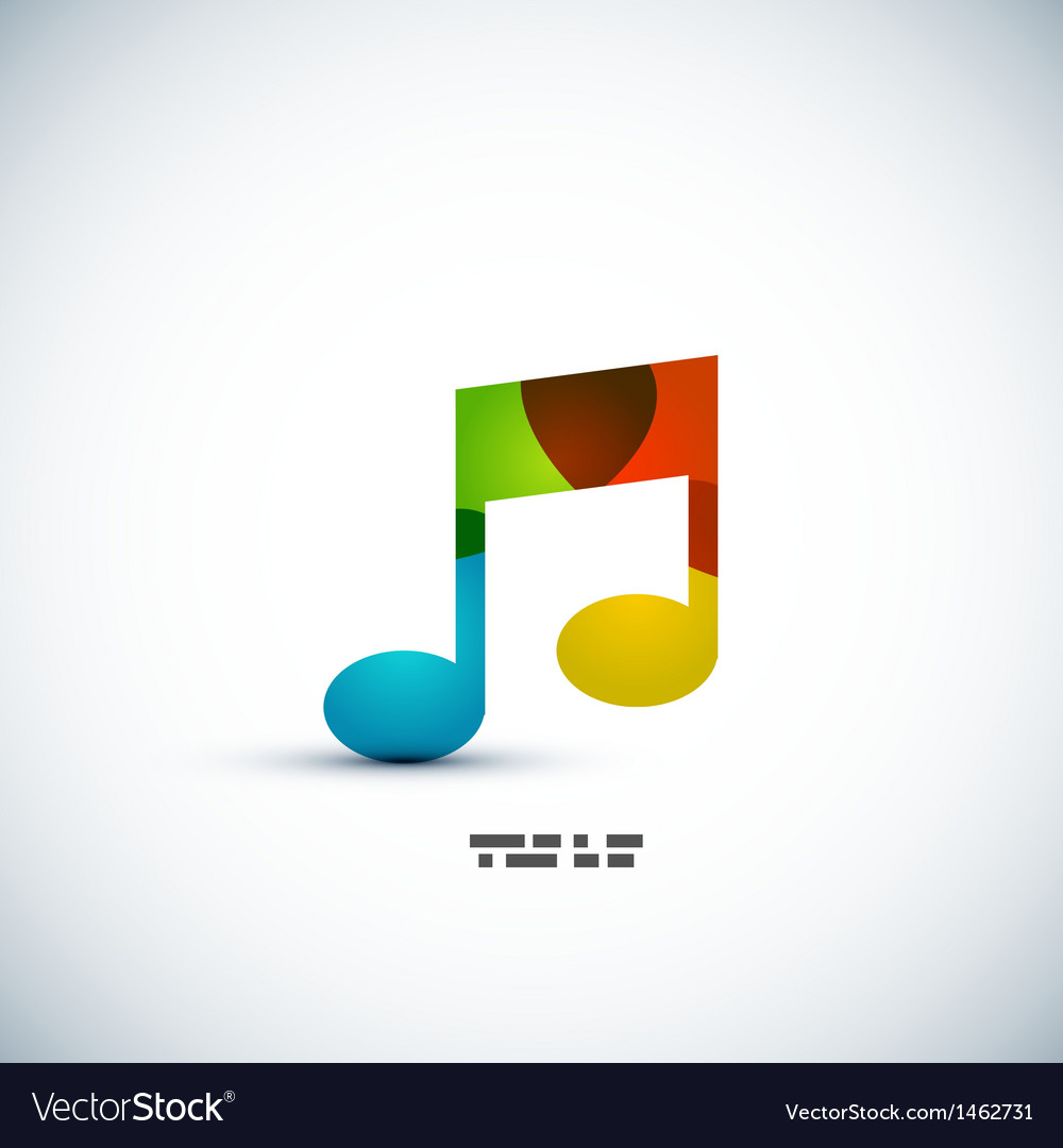 Music note colorful concept vector | Price: 1 Credit (USD $1)