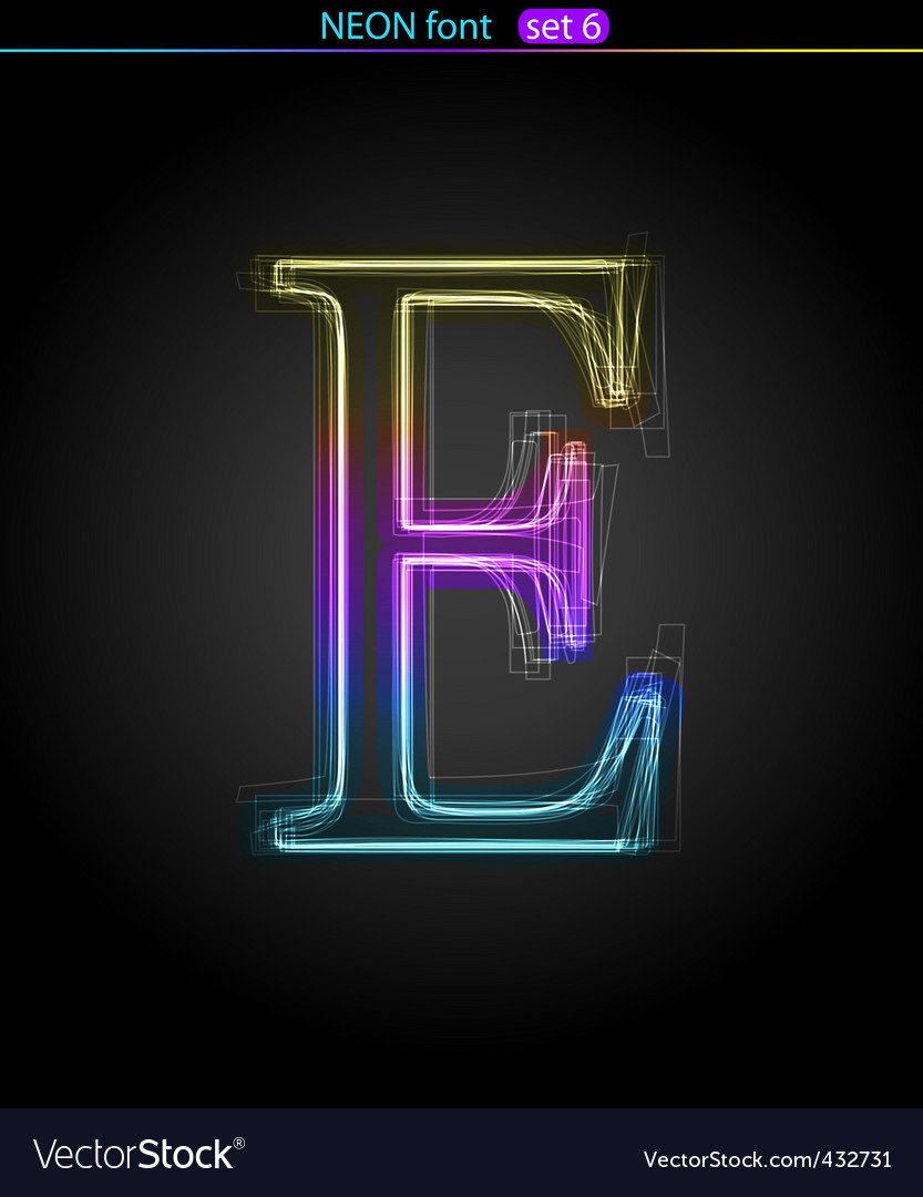 Neon letter vector | Price: 1 Credit (USD $1)