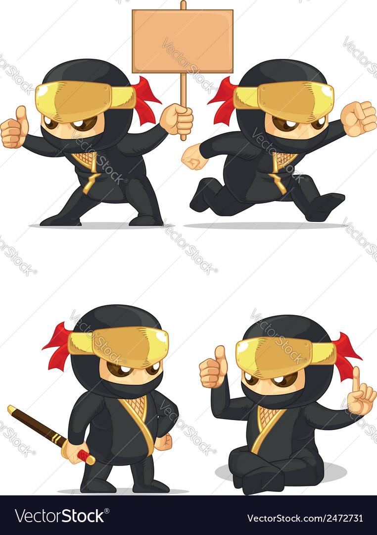 Ninja customizable mascot 6 vector | Price: 1 Credit (USD $1)