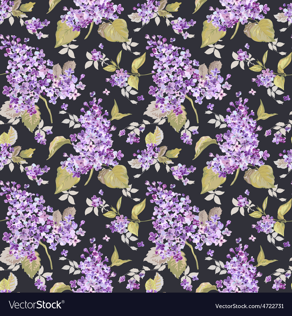 Vintage floral lilac background vector | Price: 1 Credit (USD $1)