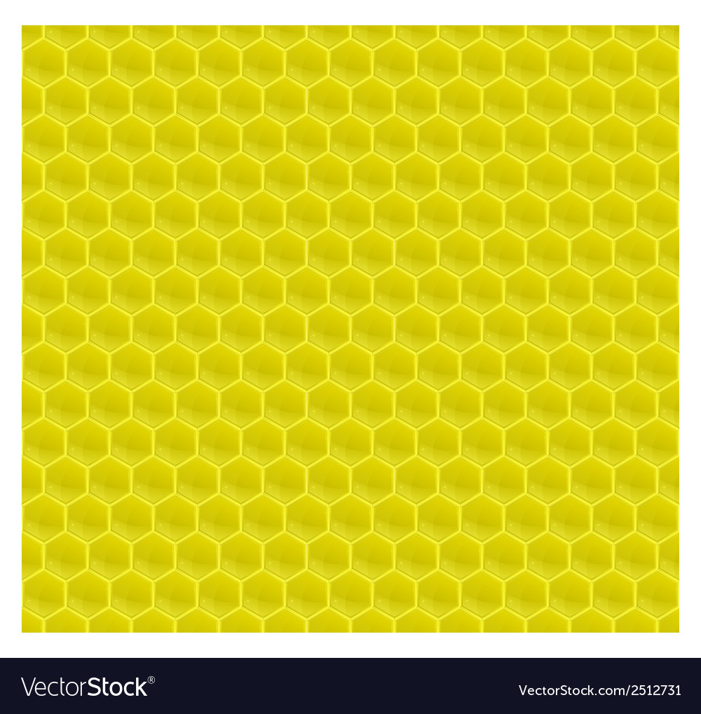 Yellow pattern hexagon mosaic vector | Price: 1 Credit (USD $1)