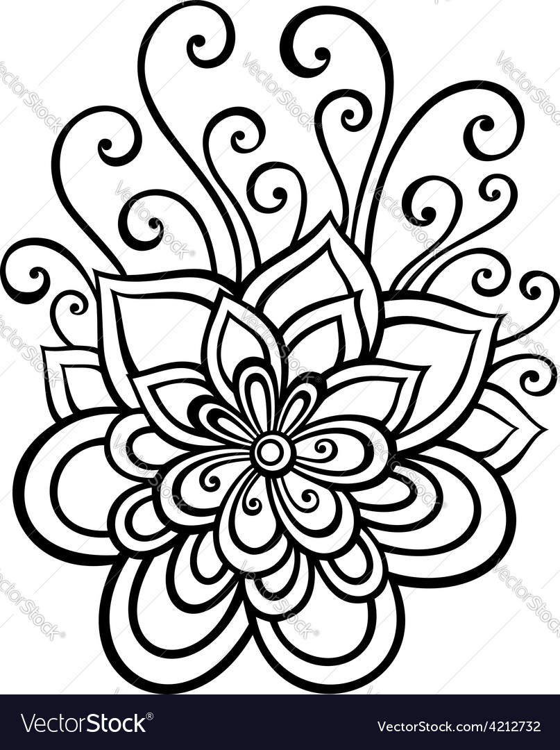 Artistic flower design vector | Price: 1 Credit (USD $1)