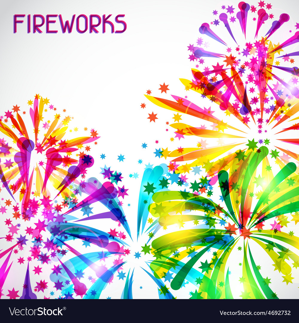 Background with bright colorful fireworks and vector   Price: 1 Credit (USD $1)