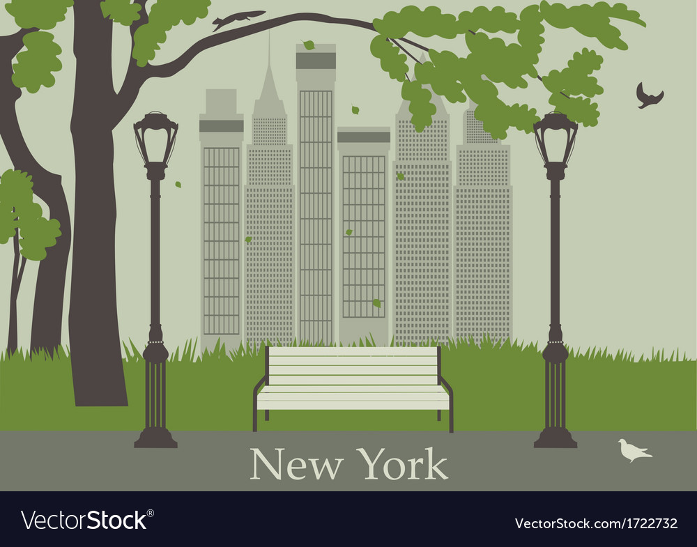 Central park in new york vector | Price: 1 Credit (USD $1)