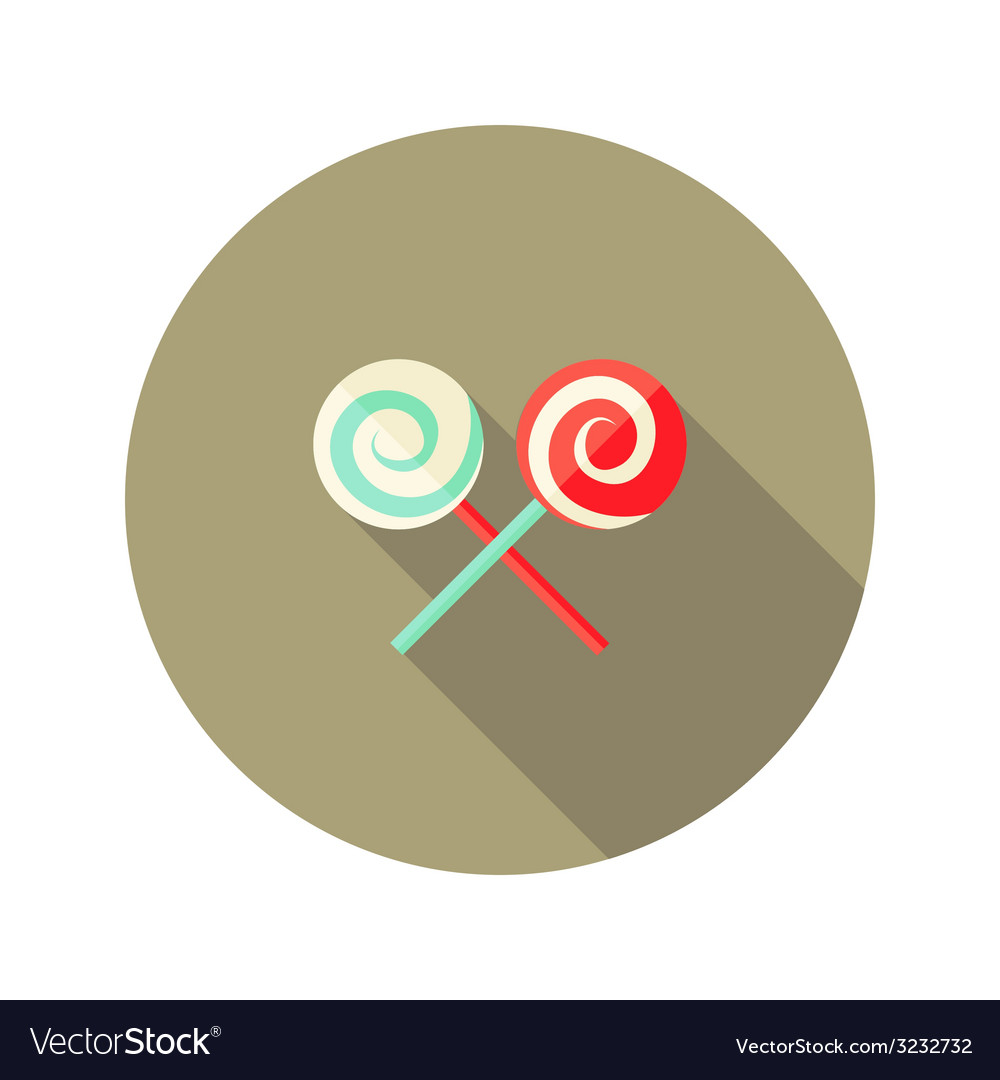 Christmas spiral candy stick flat icon vector | Price: 1 Credit (USD $1)
