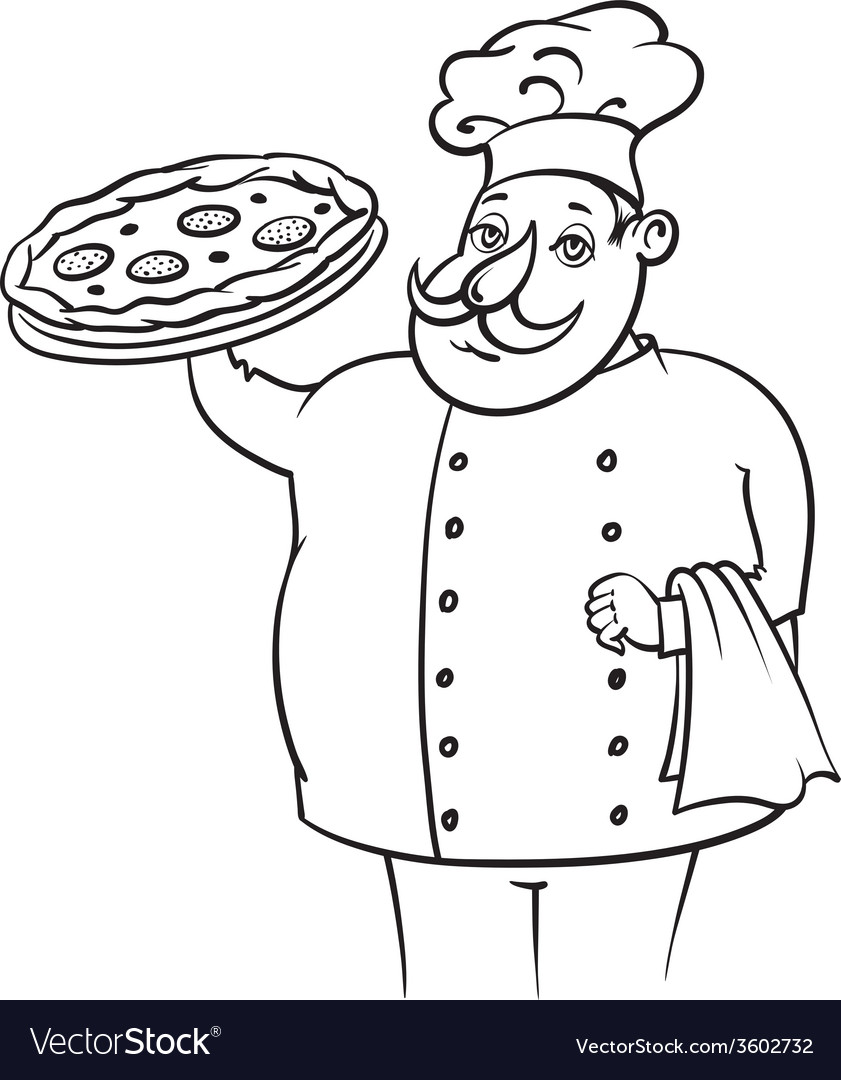 Cook pizza vector | Price: 1 Credit (USD $1)
