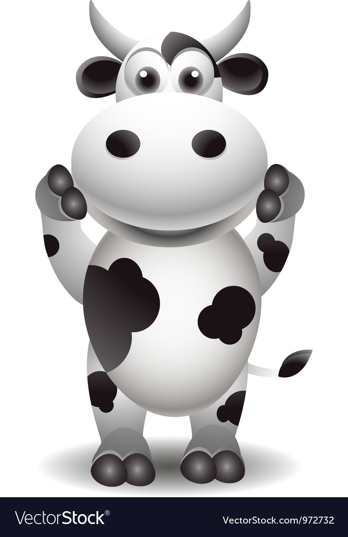 Funny cartoon cow vector | Price: 3 Credit (USD $3)