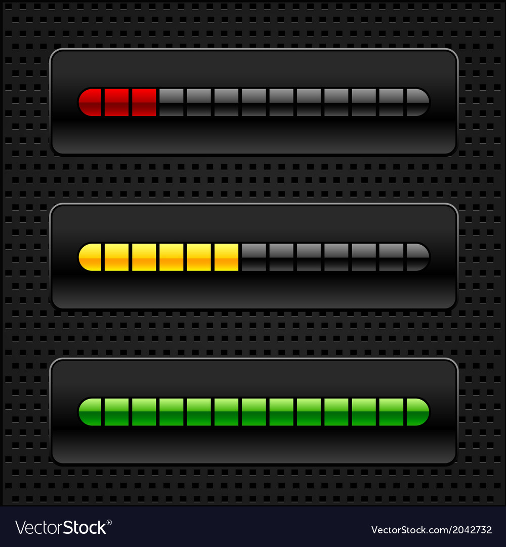 Loading bar vector | Price: 1 Credit (USD $1)