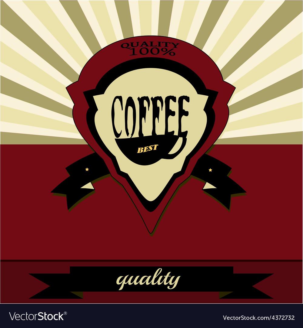 Retro coffee label vector | Price: 1 Credit (USD $1)