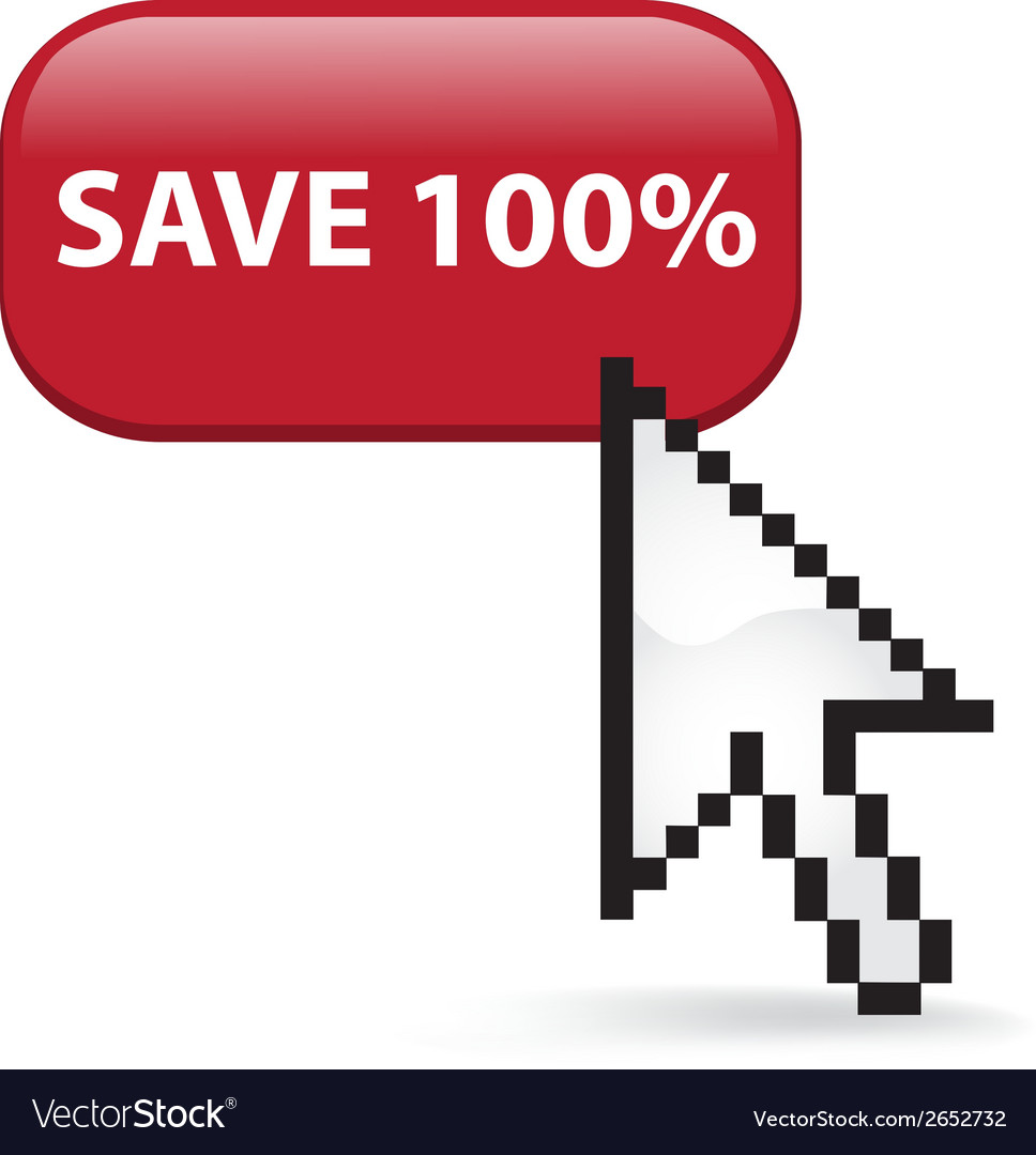 Save 100 button click vector   Price: 1 Credit (USD $1)