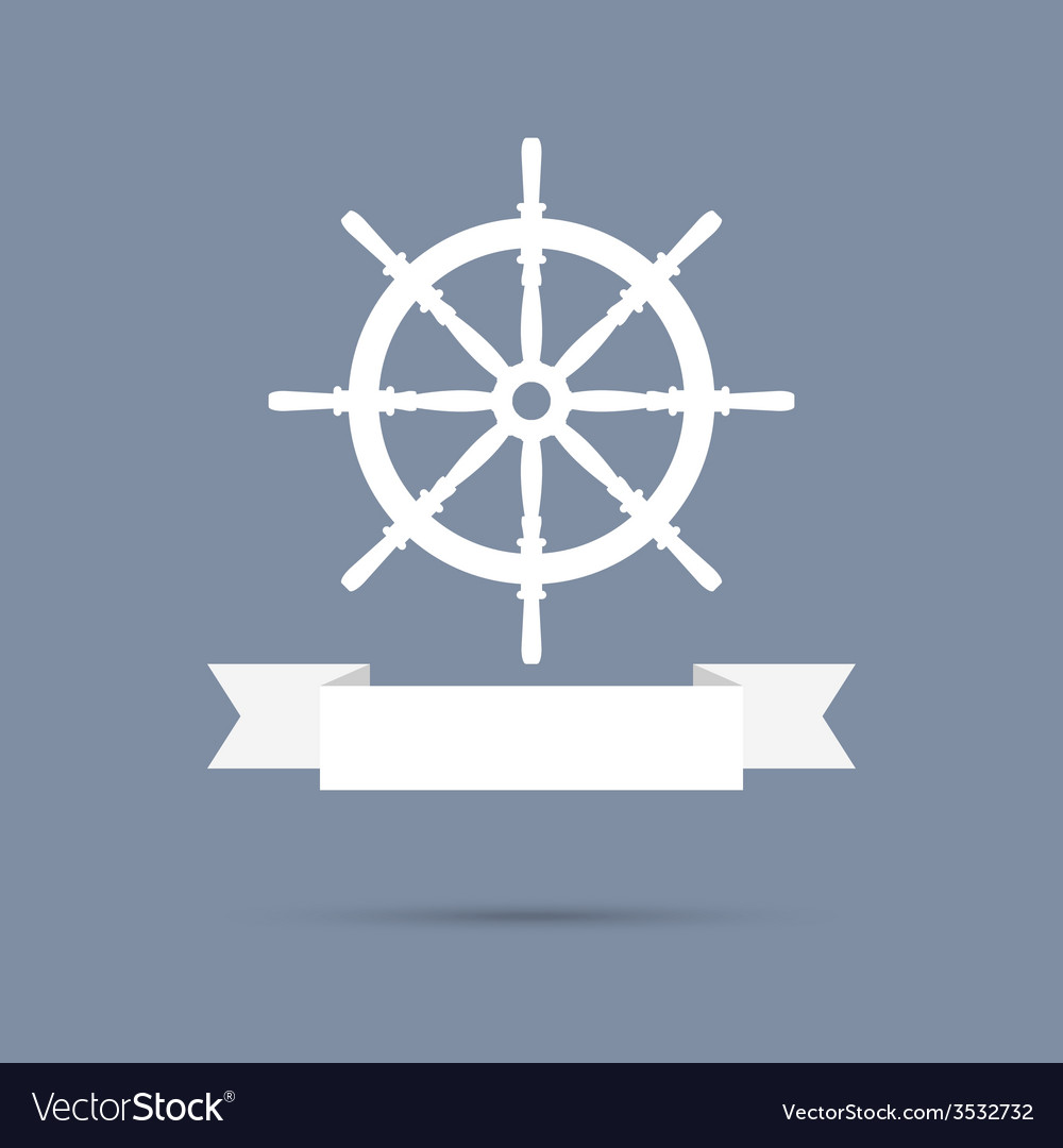 Wheel with ribbon vector | Price: 1 Credit (USD $1)