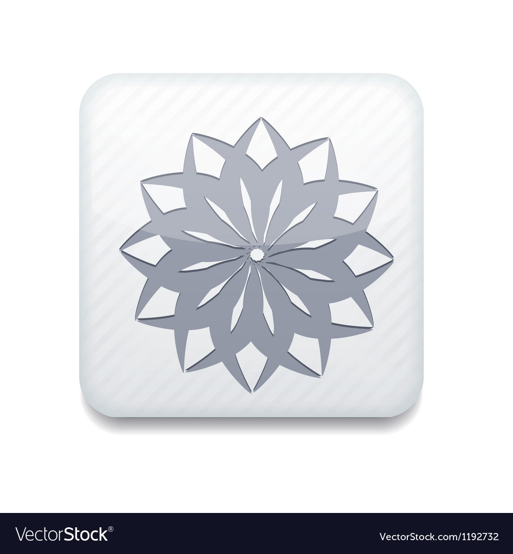White snowflake icon eps10 easy to edit vector | Price: 1 Credit (USD $1)