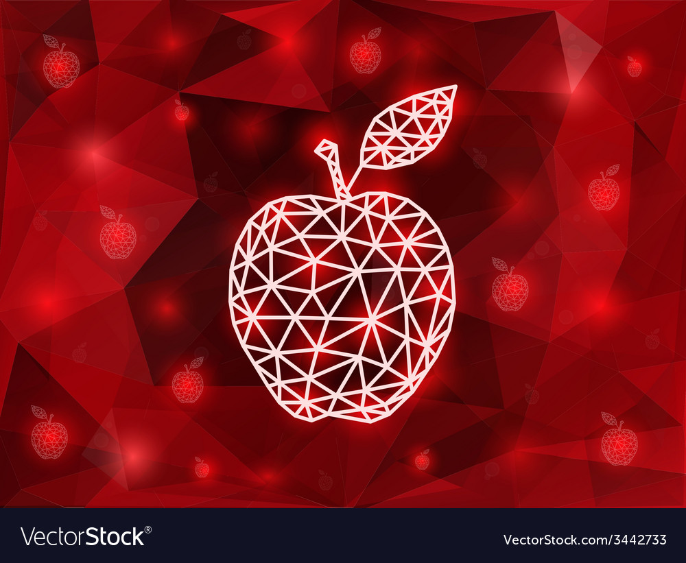 Abstract triangle apple with background vector | Price: 1 Credit (USD $1)