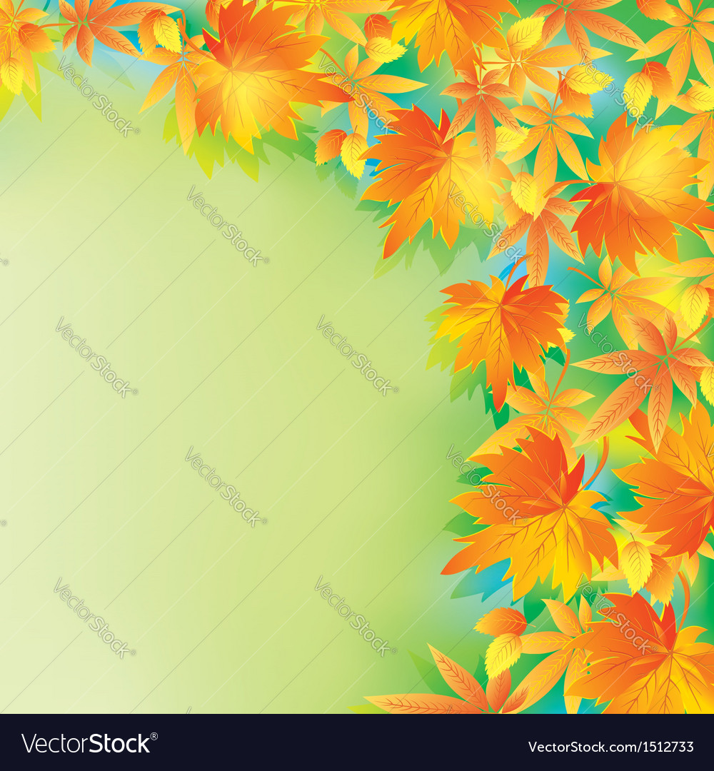 Beautiful autumn background with leaf fall vector | Price: 1 Credit (USD $1)