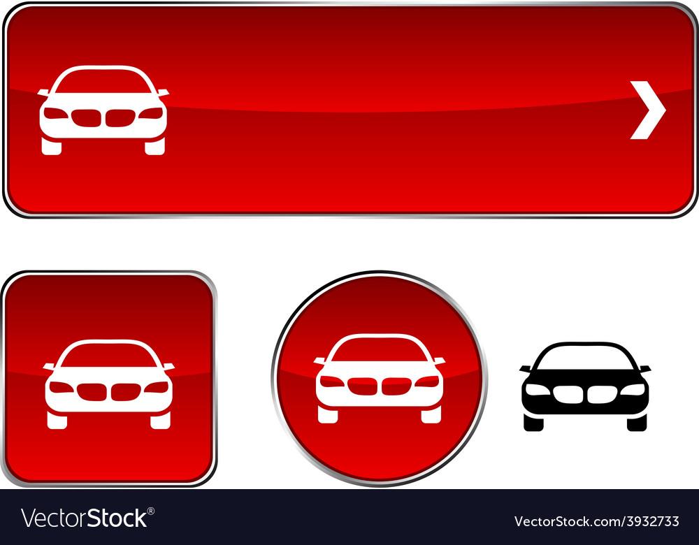Car button set vector | Price: 1 Credit (USD $1)