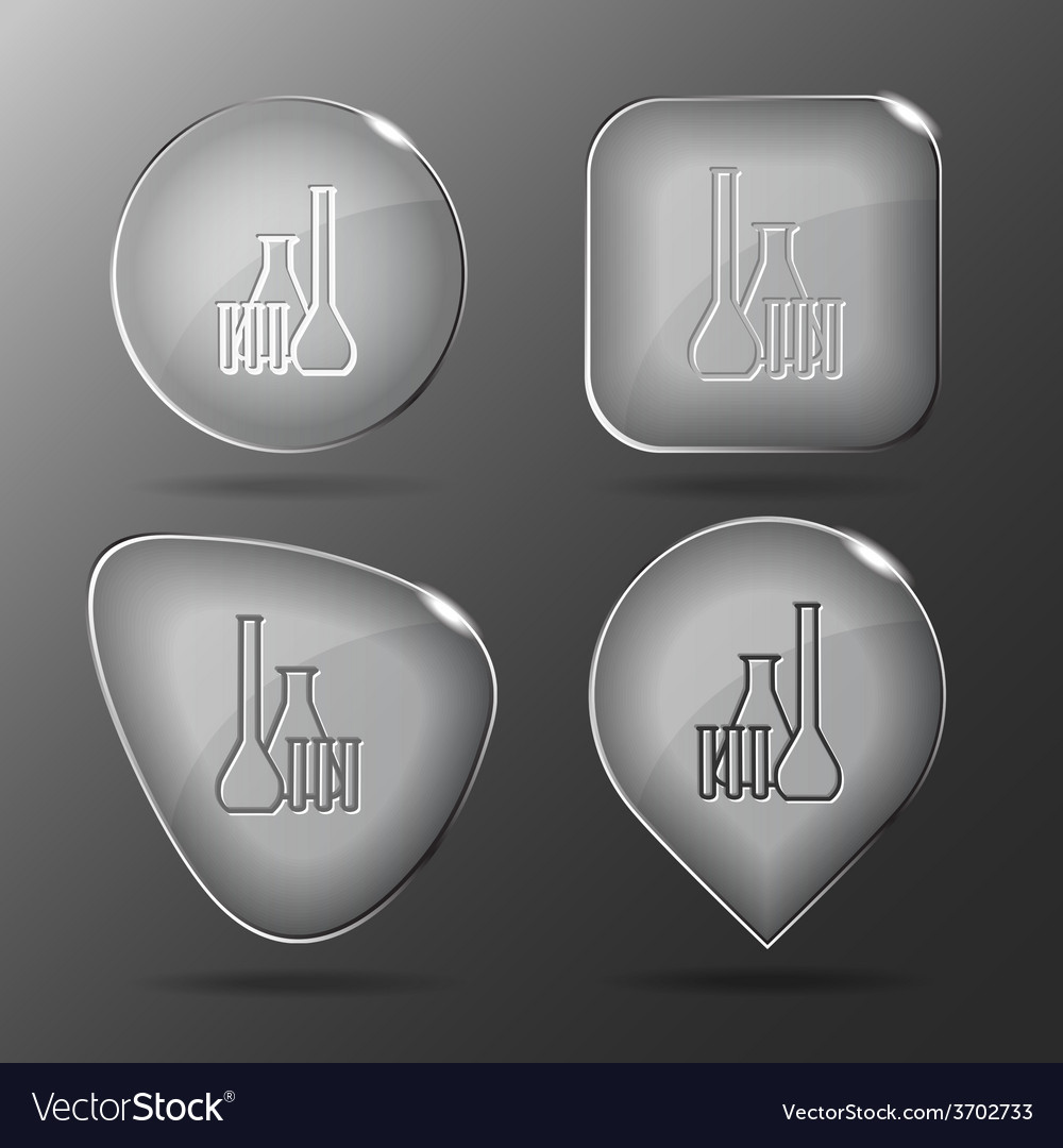 Chemical test tubes glass buttons vector | Price: 1 Credit (USD $1)