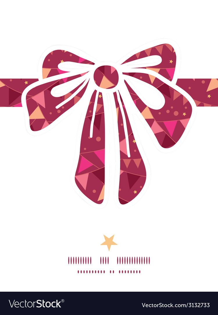 Christmas decorations flags gift bow silhouette vector | Price: 1 Credit (USD $1)