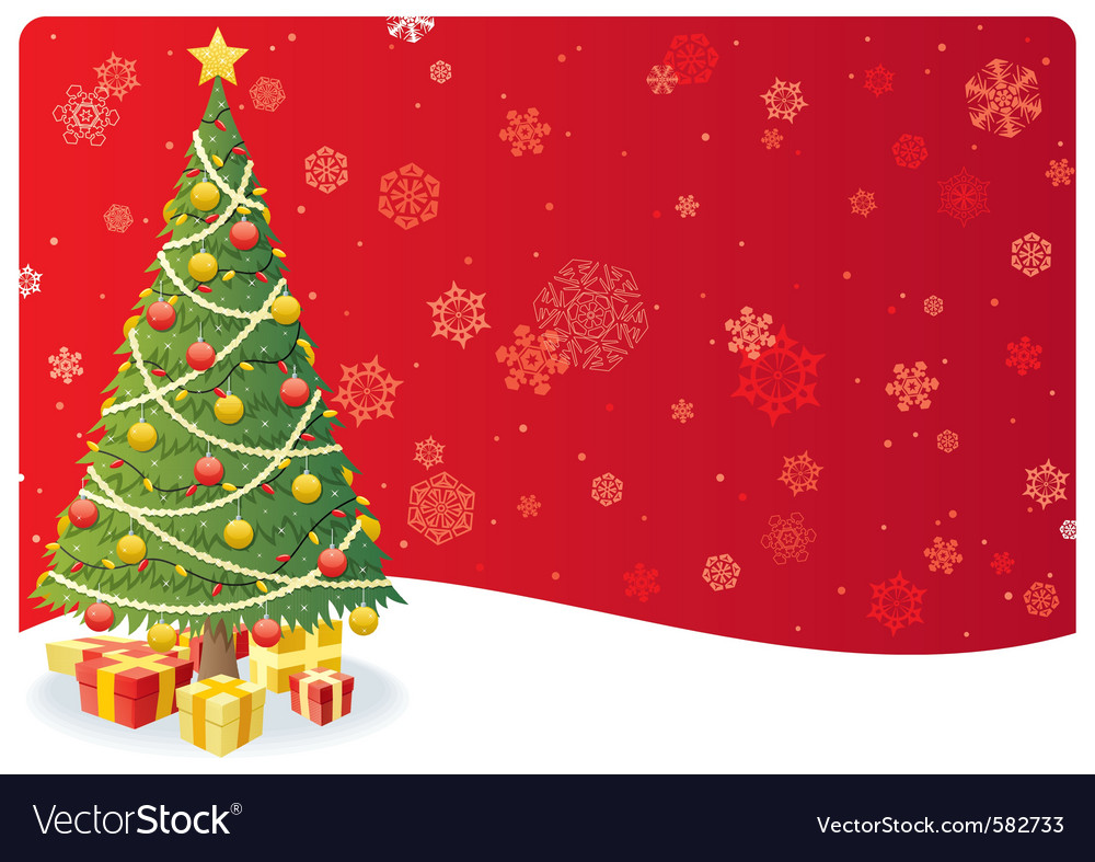 Christmas tree background 3 vector | Price: 1 Credit (USD $1)