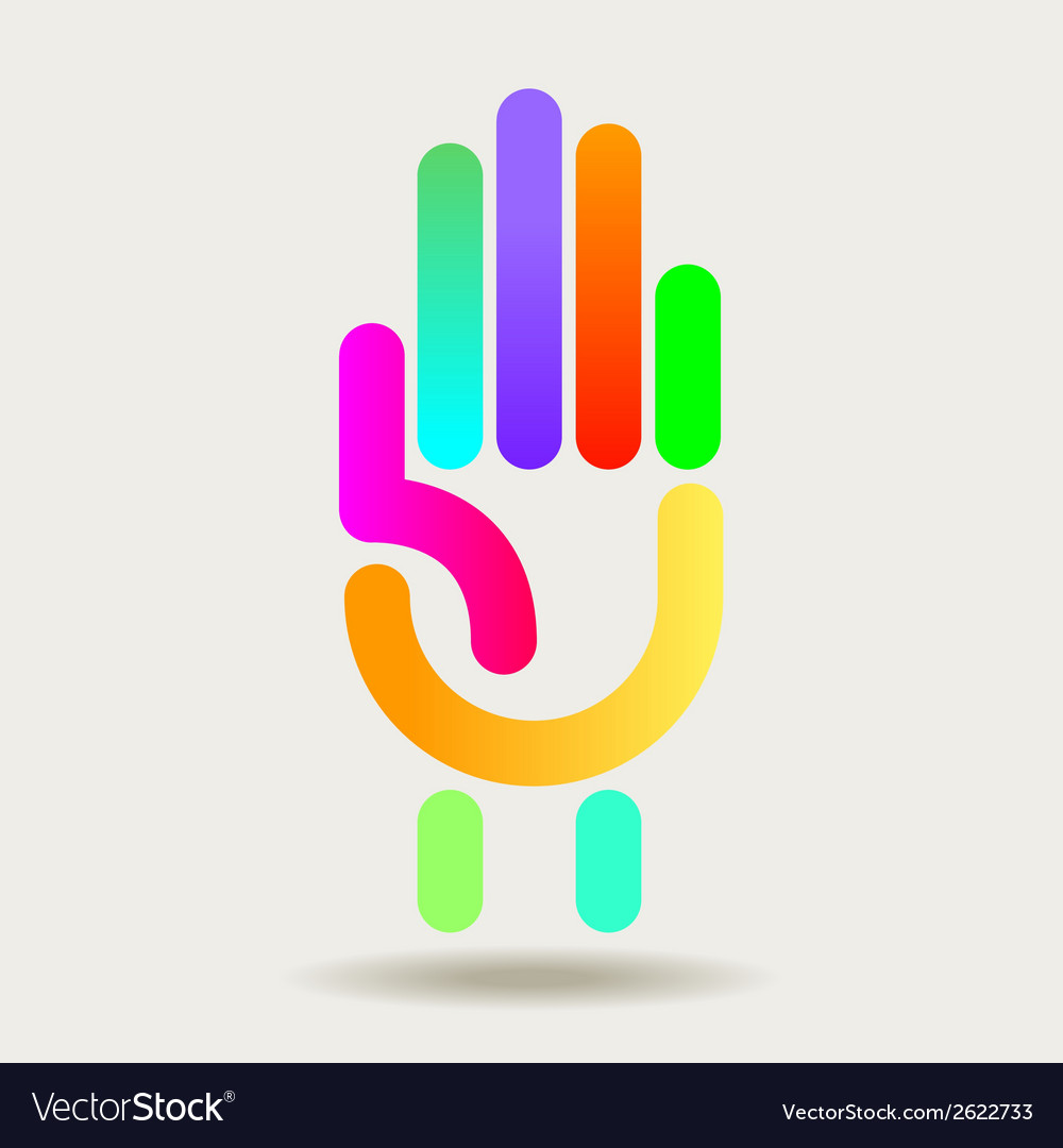 Colorful hand graphic vector   Price: 1 Credit (USD $1)