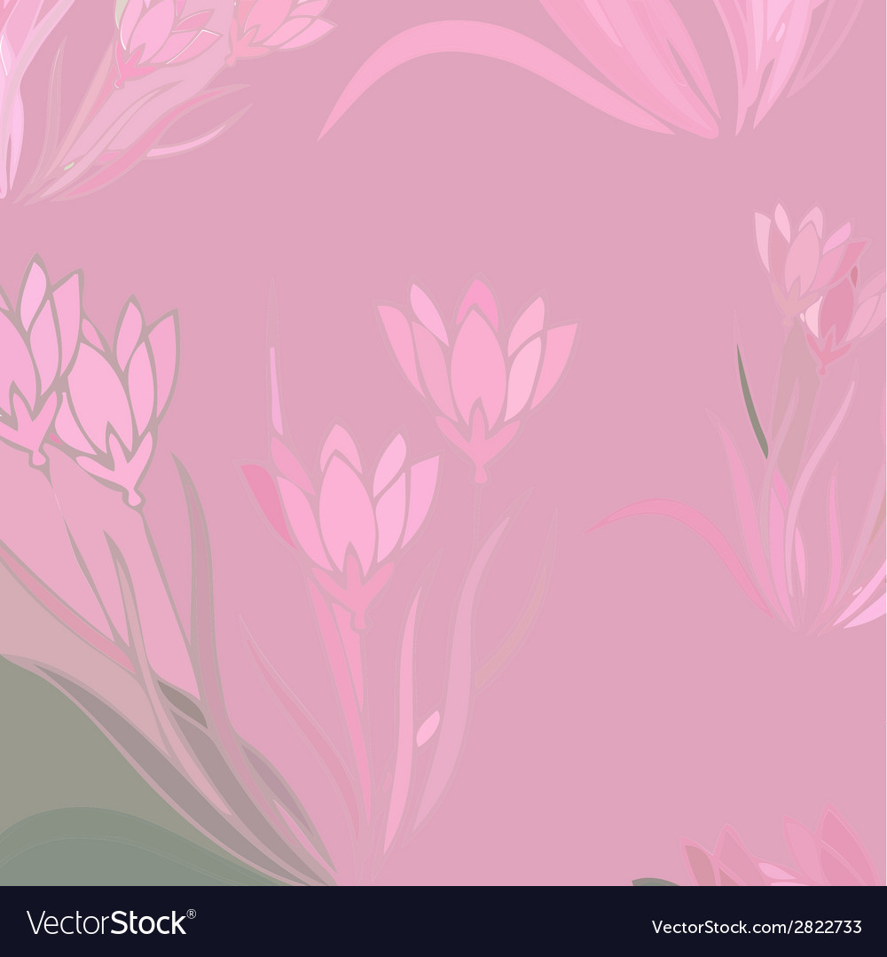 Floral background with blooming lilies vector | Price: 1 Credit (USD $1)