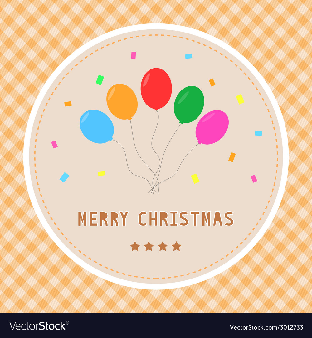 Merry christmas greeting card23 vector | Price: 1 Credit (USD $1)