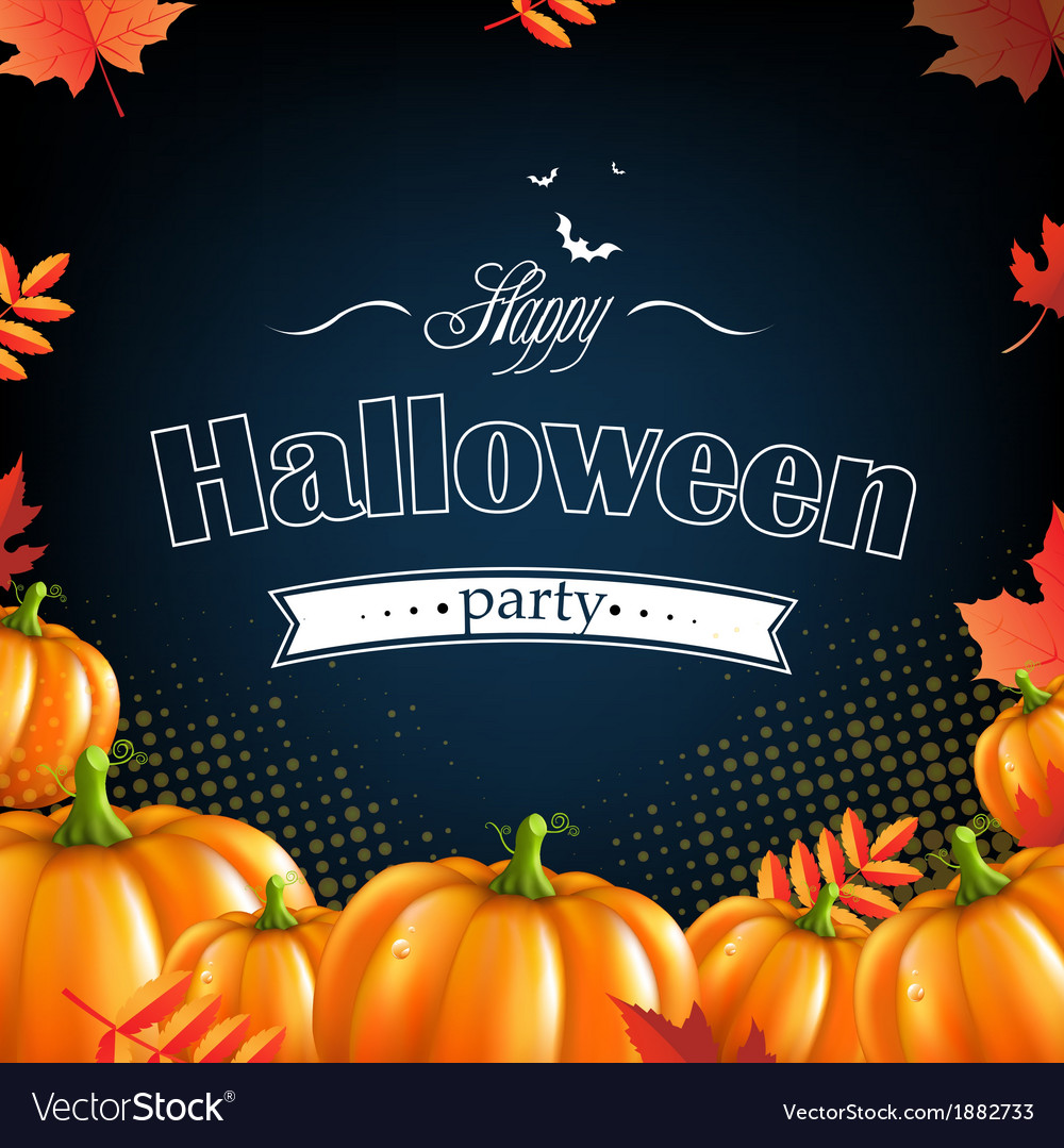 Orange autumn pumpkins frame vector | Price: 1 Credit (USD $1)