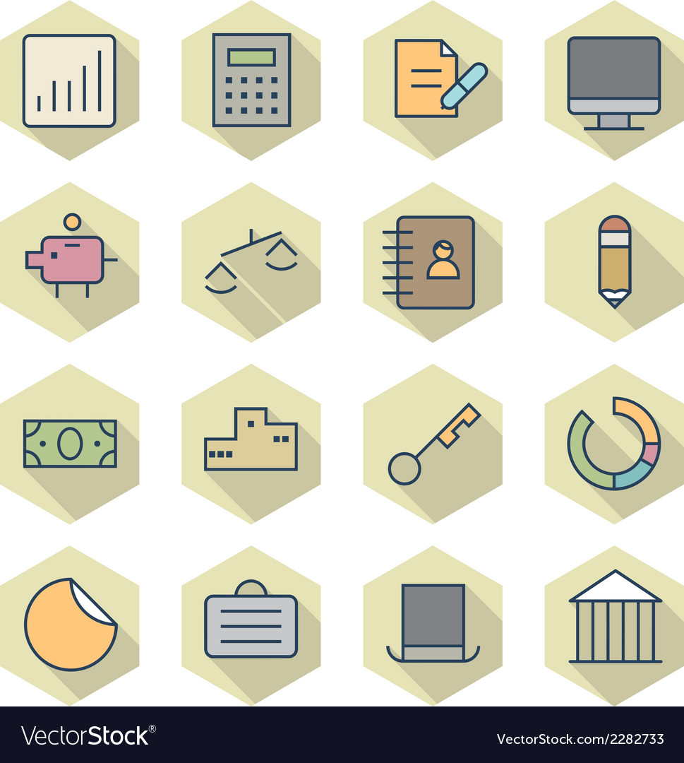 Thin line icons for business and finance vector | Price: 1 Credit (USD $1)