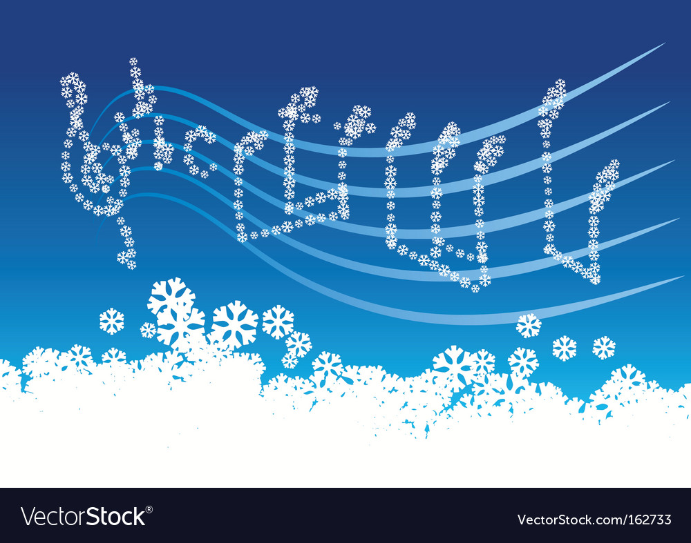 Winter music vector | Price: 1 Credit (USD $1)