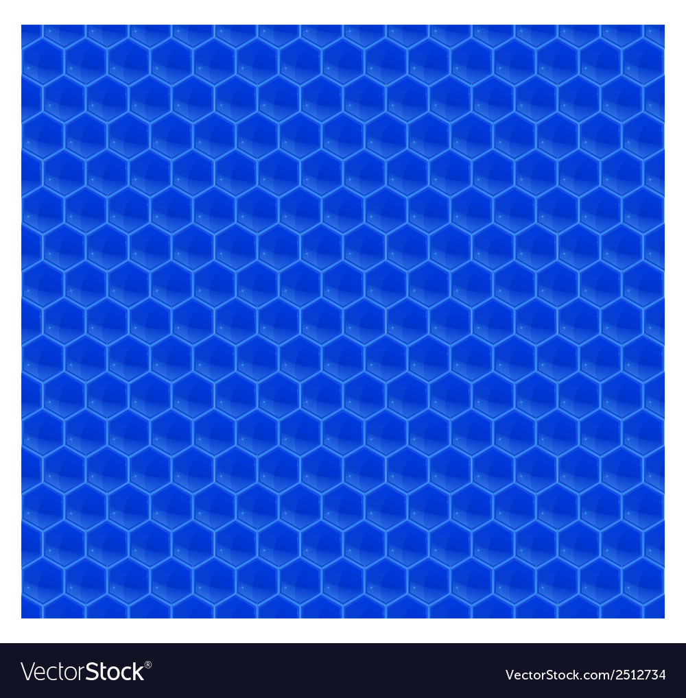 Blue pattern hexagon mosaic vector | Price: 1 Credit (USD $1)