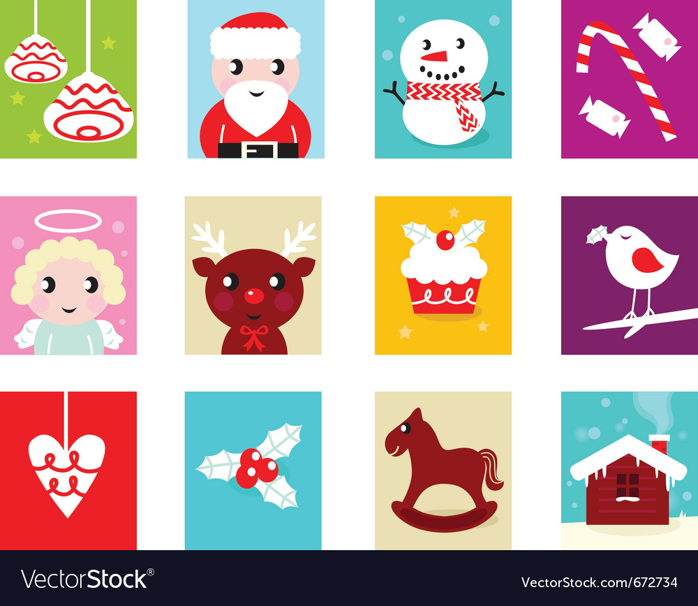 Christmas advent calendar elements 2 vector | Price: 1 Credit (USD $1)